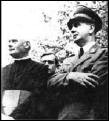 Le Catholique Saric avec le Nazi Ante Pavelic à Sarajevo