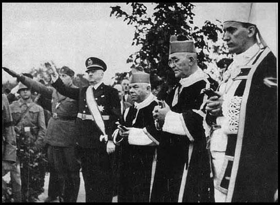 L'Archevêque Catholique Stepinac avec les Nazis d'Ustashi