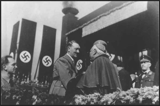 Catholic Hitler with Catholic Cardinal